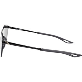 100% Legere UltraCarbon Round Gafas, polished black/smoke